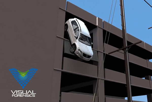 Forensic 3D Animation – Car Falls from Parking Structure
