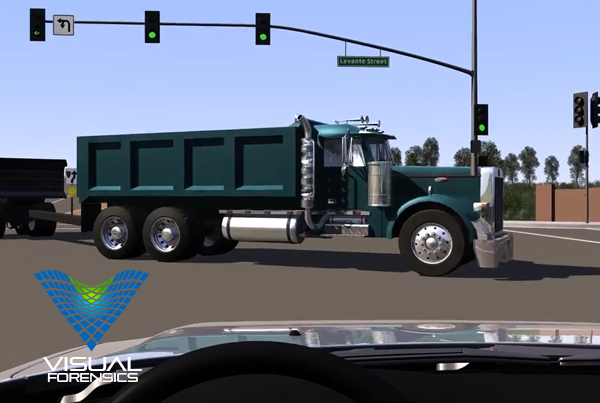 Forensic 3D Animation – Semi-Truck Illegal Turn